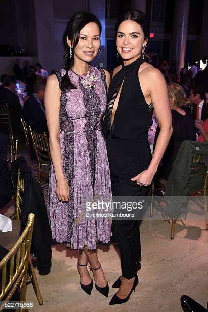 Wendy Murdoch and Katie Lee Joel attend the Food Bank Of New York City's Can Do Awards 2016 hosted by Mario Batali at Cipriani Wall Street on April...