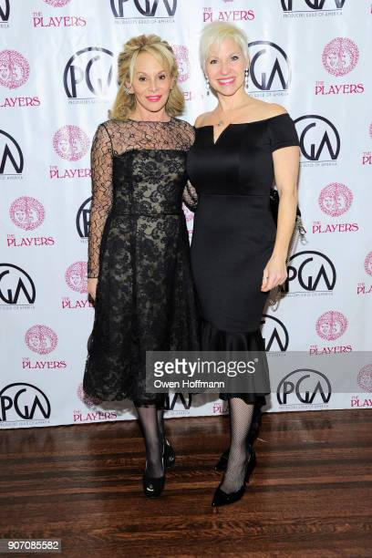 Wendy Neuss and Rachel Klein attend The Players Hosts East Coast Celebration of the 2018 Producers Guild Nominees at The Players on January 16 2018...
