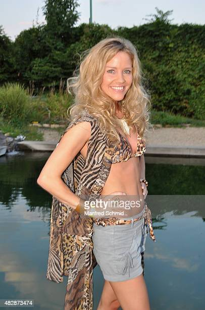 Wendy Night poses during the 'I'm A Celebrity Get Me Out Of Here' farewell party for Christina Lugner on August 3 2015 in Vienna Austria