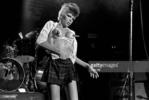 Wendy O Williams of the Plasmatics during The Plasmatics in Concert at the Agora Ballroom in Atlanta July 24 1981 at Agora Ballroom in Atlanta...