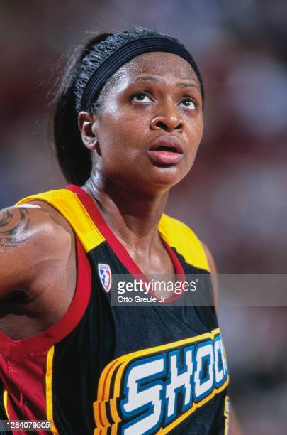 Wendy Palmer, Forward for the Detroit Shock during the WNBA Western Conference basketball game against the Seattle Storm on 28th June 2000 at the Key...