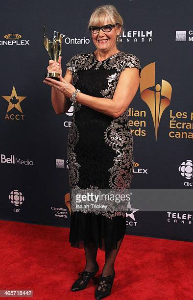 Wendy Partridge poses in the press room at the 2015 Canadian Screen Awards at the Four Seasons Centre for the Performing Arts on March 1 2015 in...
