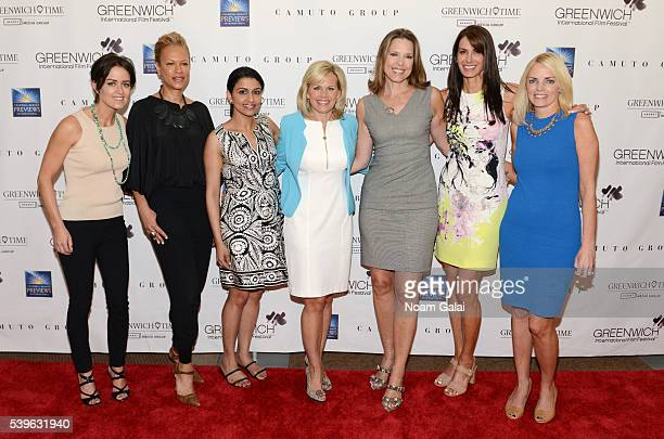 Wendy Reyes Tonya Lewis Lee Reena Ninan Gretchen Carlson Hannah Storm Nancy Armstrong and Ginger Stickel attend Women at the Top Female Empowerment...