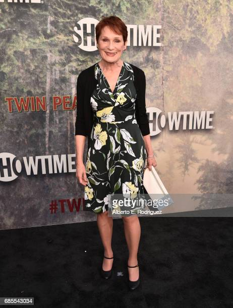 """Wendy Robie attends the premiere of Showtime's """"Twin Peaks"""" at The Theatre at Ace Hotel on May 19, 2017 in Los Angeles, California."""