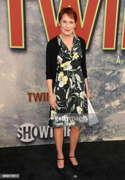 """Wendy Robie attends the premiere of """"Twin Peaks"""" at Ace Hotel on May 19, 2017 in Los Angeles, California."""