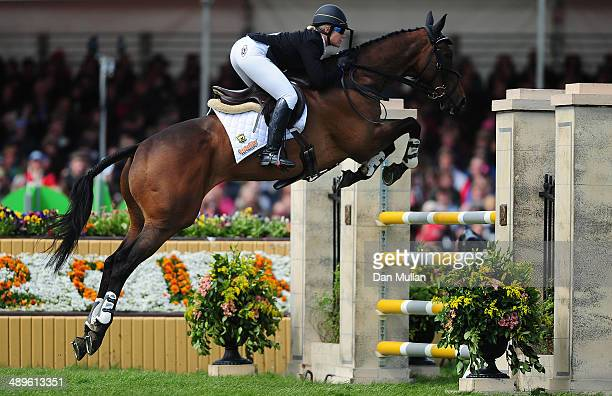 Wendy Schaeffer of Australia riding Koyuna Sun Dancer during the Show Jumping on day five of the Badminton Horse Trials on May 11 2014 in Badminton...