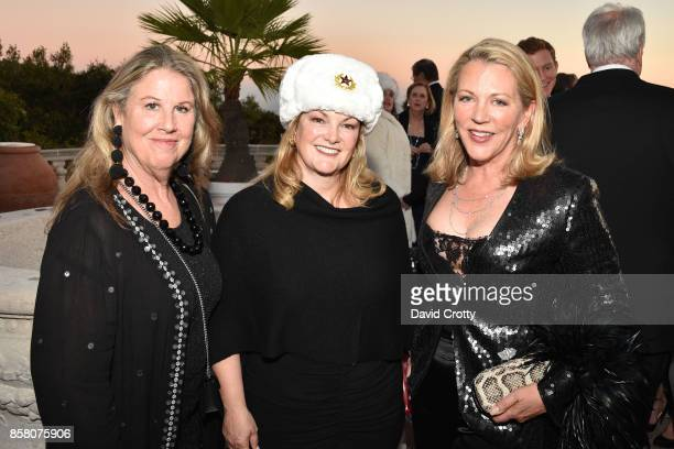 "Wendy Stark, Patricia Hearst Shaw and Suzanne Tucker attend Hearst Castle Preservation Foundation Benefit Weekend ""James Bond 007 Costume Gala"" at..."