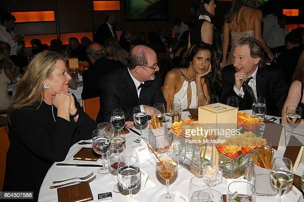 Wendy Stark Salman Rushdie Padma Lakshmi and Bill Maher attend Vanity Fair Oscar Party at Morton's Restaurant on March 5 2006