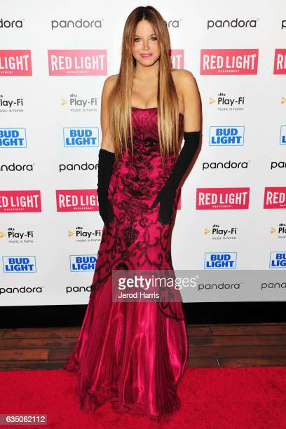 Wendy Starland arrives at the Red Light Management 2017 Grammy After Party on February 12 2017 in West Hollywood California
