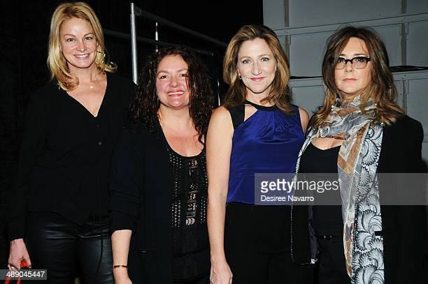 Wendy Van Patten Aida Turturro Edie Falco and Talia Balsam attend the Nanette Lepore Show during MercedesBenz Fashion Week Fall 2014 at The Salon at...
