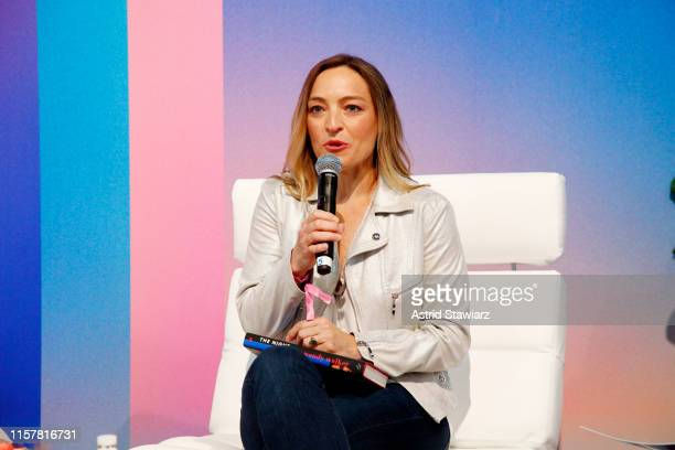 """Wendy Walker speaks on stage during """"ThrillHer"""" panel discussion during POPSUGAR Play/Ground at Pier 94 on June 23, 2019 in New York City."""