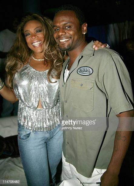 Wendy Williams and Carl Thomas during Wendy Williams Birthday Party at Tens at Tens in New York City New York United States