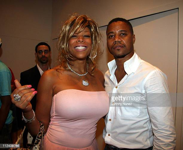 Wendy Williams and Cuba Gooding Jr during Relaunch of Allhiphopcom Hosted by Jermaine Dupree Inside at The New Space in New York City New York United...