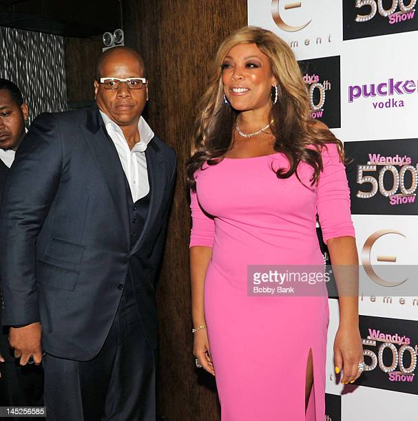 Wendy Williams and her husband Kevin Hunter attends The Wendy Williams Show 500th episode celebration at Element on May 24 2012 in New York City