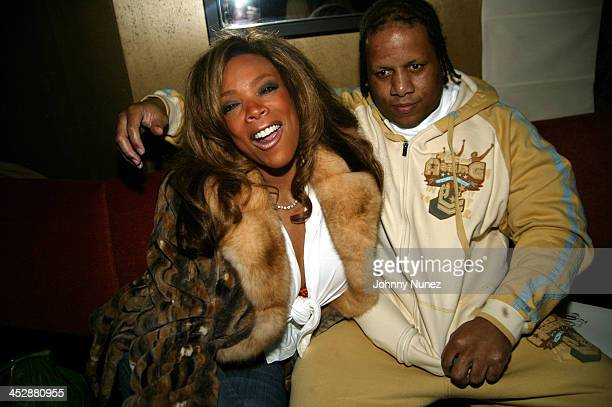 Wendy Williams and Husband during Patricia Field for the House of Rocawear Lounge at Ono at the Hotel Gansevort in New York City New York United...