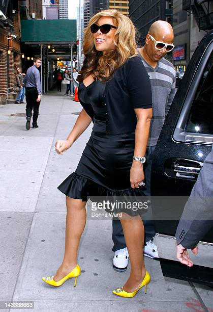 Wendy Williams and Kevin Hunter arrive for The David Letterman Show at Ed Sullivan Theater on April 24 2012 in New York City