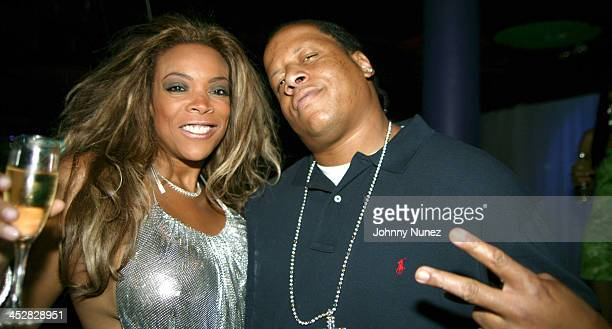Wendy Williams and Kevin Hunter during Wendy Williams Birthday Party at Tens at Tens in New York City New York United States