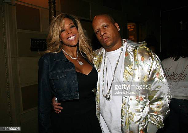 Wendy Williams and Kevin Williams during Alize Presents The Live Wendy Williams Experience October 7 2006 at Gotham Hall in New York New York United...
