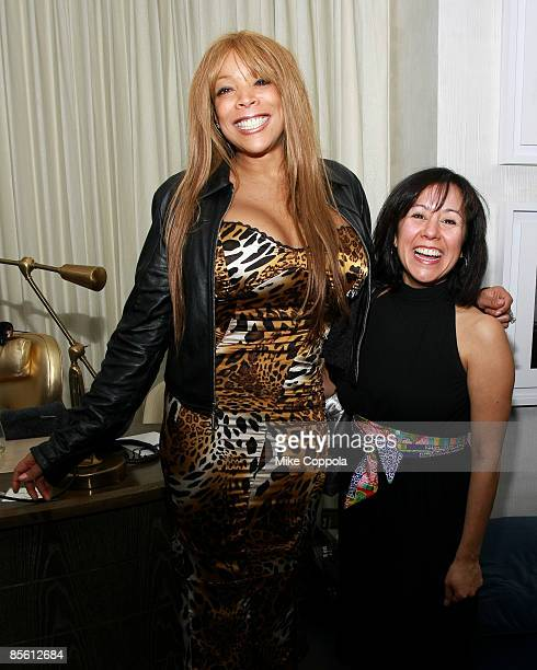 Wendy Williams and NBC Today Show Producer Alicia Ybarbo attends Closet Cases premiere party at The London Hotel on March 25 2009 in New York City