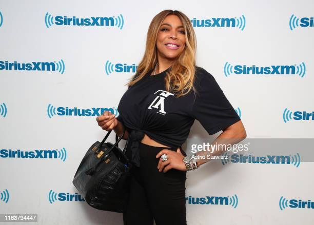 Wendy Williams attends SiriusXM Town Hall with Wendy Williams hosted by SiriusXM host Karen Hunter at SiriusXM Studios on July 23 2019 in New York...