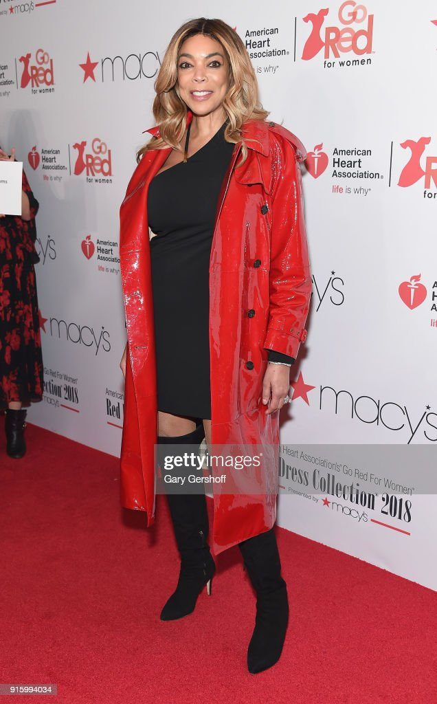 Wendy Williams attends the Red Dress / Go Red For Women Fashion Show at Hammerstein Ballroom on February 8, 2018 in New York City.