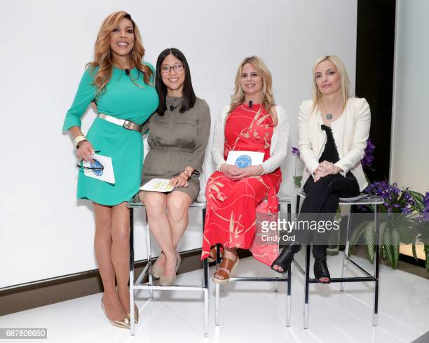 Wendy Williams Dr Andrea Shin Dr Amanda Baten and Lauren Slayton speak on a panel at the Vital Signs of Bowel Health Event at Apella on April 12 2017...
