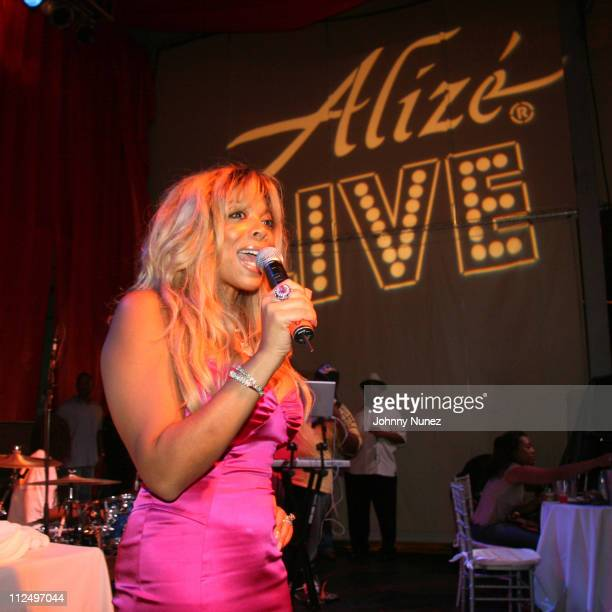 Wendy Williams during Wendy Williams Hosts Alize Live South Florida at Revolution in New York City New York United States