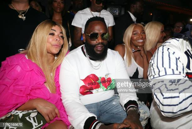 "Wendy Williams, Rick Ross, and NeNe Leakes attend the Rick Ross ""Port Of Miami 2"" Album Party at Up & Down on August 24, 2019 in New York City."