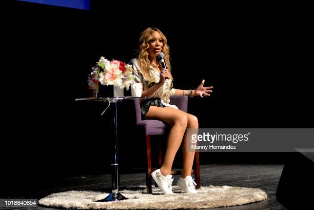 Wendy Williams speaks onstage as she celebrates 10 years of The Wendy Williams Show at the Fillmore Miami Beach on August 10 2018 in Miami Beach...