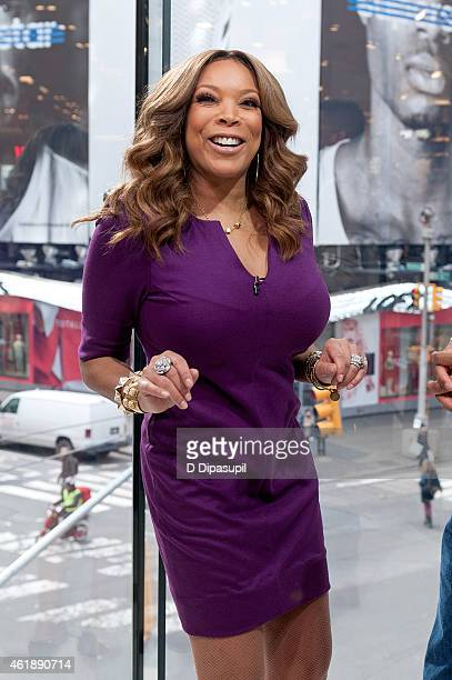 Wendy Williams visits 'Extra' at their New York studios at HM in Times Square on January 21 2015 in New York City