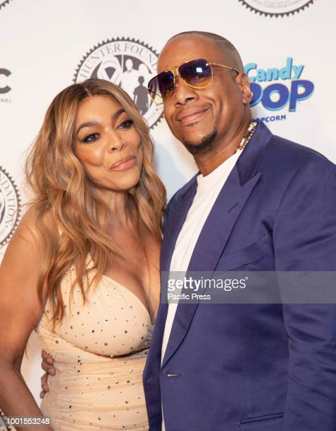 Wendy Williams wearing dress by Norma Kamali and Kevin Hunter attend Wendy Williams and The Hunter Foundation gala at Hammerstein Ballroom