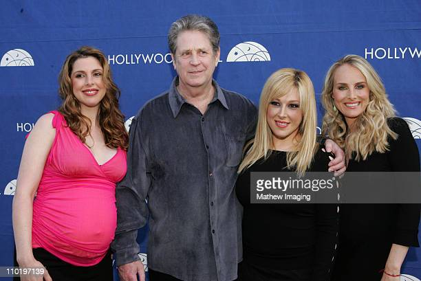 Wendy Wilson Brian Wilson Carnie Wilson and Chynna Phillips backstage at The Hollywood Bowl