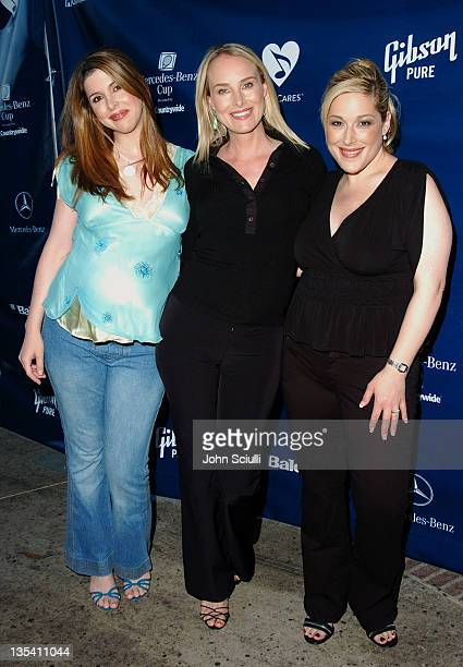 Wendy Wilson Chynna Phillips and Carnie Wilson during Gibson/Baldwin Presents Night at the Net at the 78th Annual MercedesBenz Cup Benefiting...