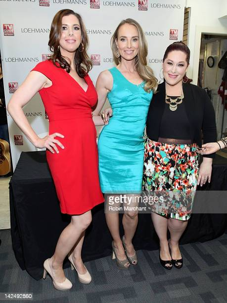 Wendy Wilson Chynna Phillips and Carnie Wilson of Wilson Phillips promotes the new album Dedicated at Loehmann's on April 5 2012 in New York City
