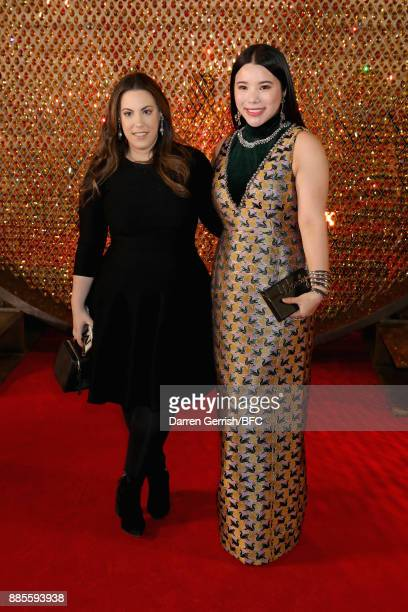 Wendy Yu and guest attend the Swarovski Prolouge at The Fashion Awards 2017 in partnership with Swarovski at Royal Albert Hall on December 4 2017 in...