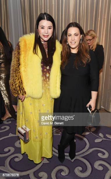 Wendy Yu and Mary Katrantzou attend the 8th Global Gift Gala London in aid of Great Ormond Street Hospital Children's Charity at Corinthia Hotel...