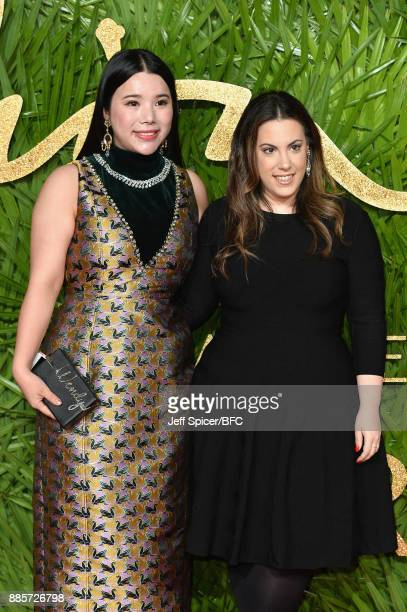 Wendy Yu and Mary Katrantzou attend The Fashion Awards 2017 in partnership with Swarovski at Royal Albert Hall on December 4 2017 in London England