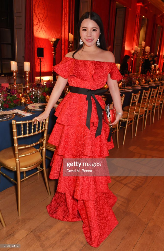 Wendy Yu attends her Chinese New Year Celebration at Kensington Palace on January 31, 2018 in London, United Kingdom.