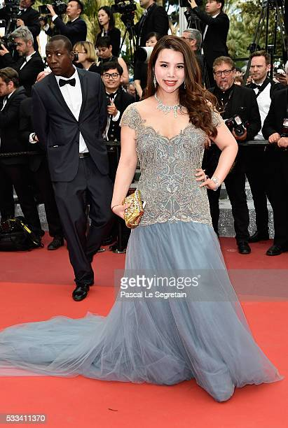 Wendy Yu attends the closing ceremony of the 69th annual Cannes Film Festival at the Palais des Festivals on May 22 2016 in Cannes France