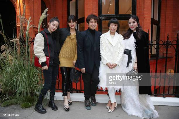 Wendy Yu attends the Huishan Zhang show during London Fashion Week Spring/Summer 2018 on September 18 2017 in London England