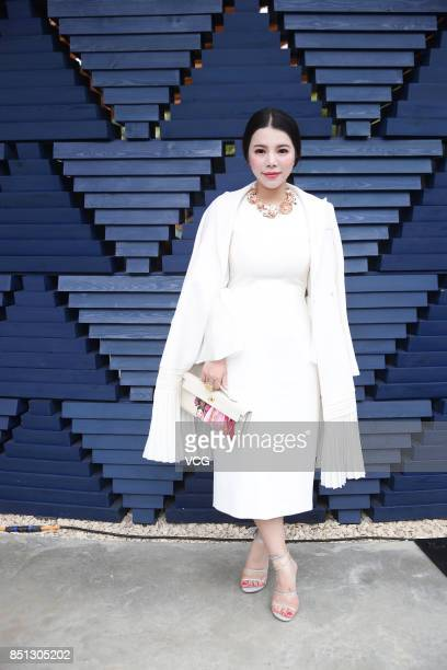 Wendy Yu attends the Roksanda show during London Fashion Week Spring/Summer 2018 on September 18 2017 in London England