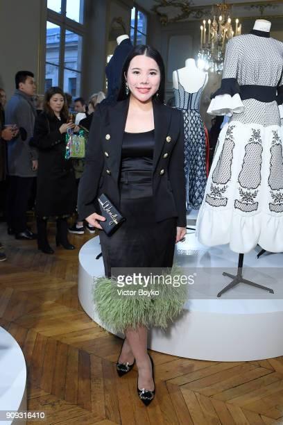 Wendy Yu attends the Ulyana Sergeenko Presentation as part of Paris Fashion Week Haute Couture Spring Summer 2018 show as part of Paris Fashion Week...