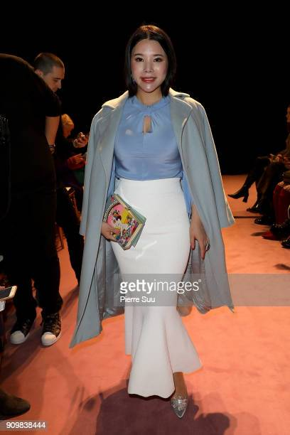 Wendy Yu attends the Viktor Rolf Haute Couture Spring Summer 2018 show as part of Paris Fashion Week on January 24 2018 in Paris France