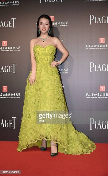 Wendy Yu, founder and president of Yu Holdings, attends Piaget Charity Night during the 24th Shanghai International Film Festival at 1862 Art Center...