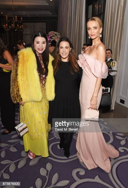 Wendy Yu Mary Katrantzou and Tatiana Korsakova attend the 8th Global Gift Gala London in aid of Great Ormond Street Hospital Children's Charity at...