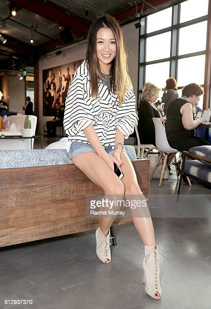 WendyÕs Lookbook blogger Wendy Nguyen attends the Vanity Fair Social Club Oscar's Viewing Party during the 2016 Vanity Fair Social Club #VFSC for...