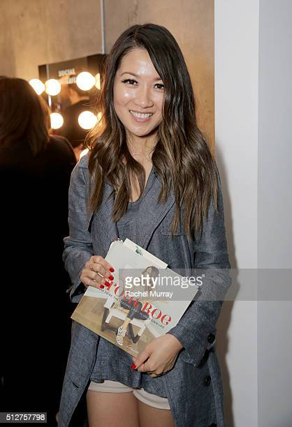 WendyÕs Lookbook blogger Wendy Nguyen poses after speaking on the panel 'A New Paradigm The Power Of The Social Influencer' during the 2016 Vanity...