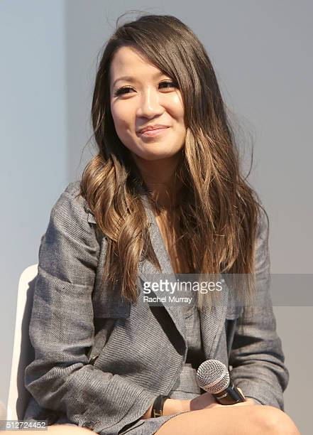 WendyÕs Lookbook blogger Wendy Nguyen speaks onstage during the panel 'A New Paradigm The Power Of The Social Influencer' during the 2016 Vanity Fair...