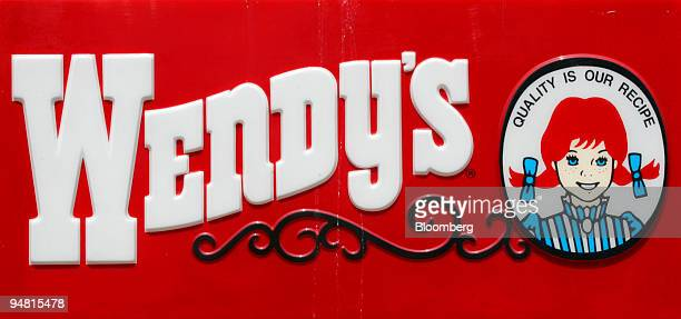 Wendy's restaurant logo is pictured in San Jose California April 22 2005 Anna Ayala who claimed to have found a human fingertip in a bowl of chili at...