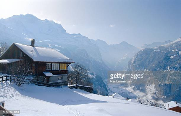 Wengen church, Switzerland